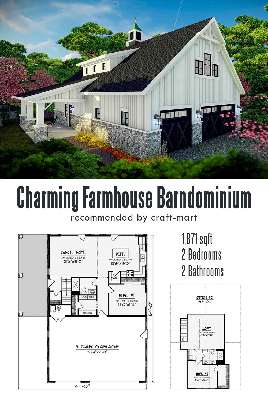 Charming Farmhouse Barndominium with 2 Bedrooms