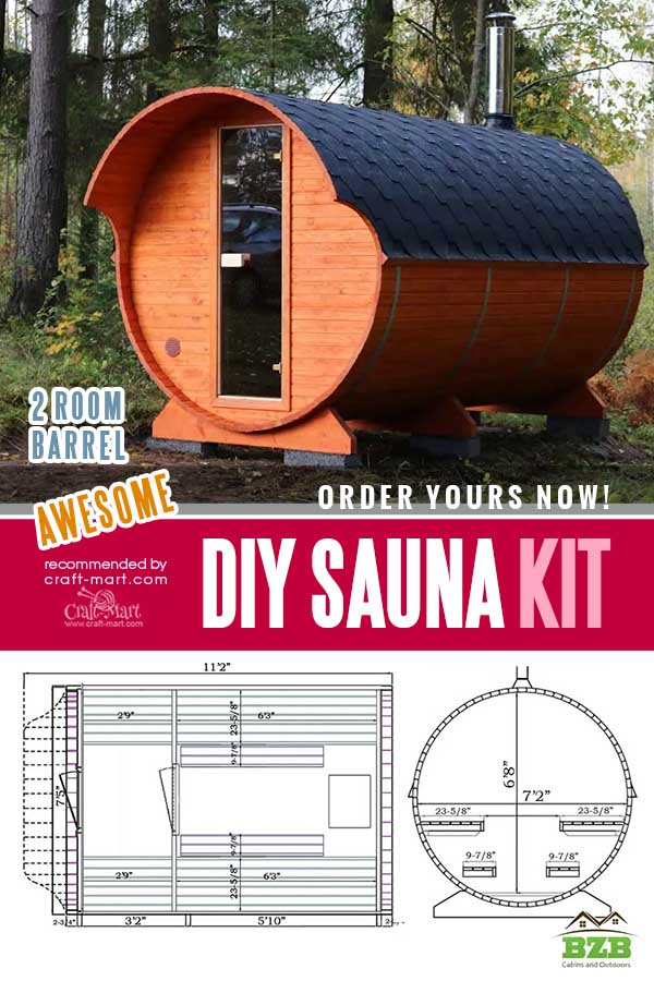 Outdoor Barrel Sauna Kit