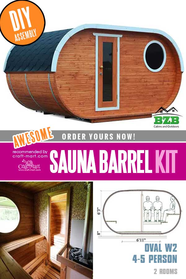 oval DIY Sauna Kit