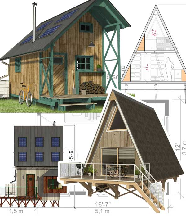 small cabins with loft