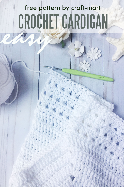 Easy Cotton Crochet Cardigan
