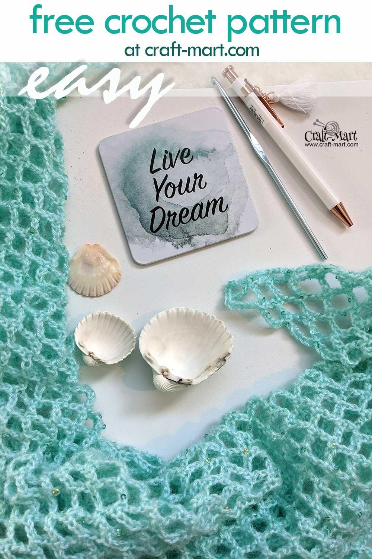 Simple Mesh Crochet Summer Shawl