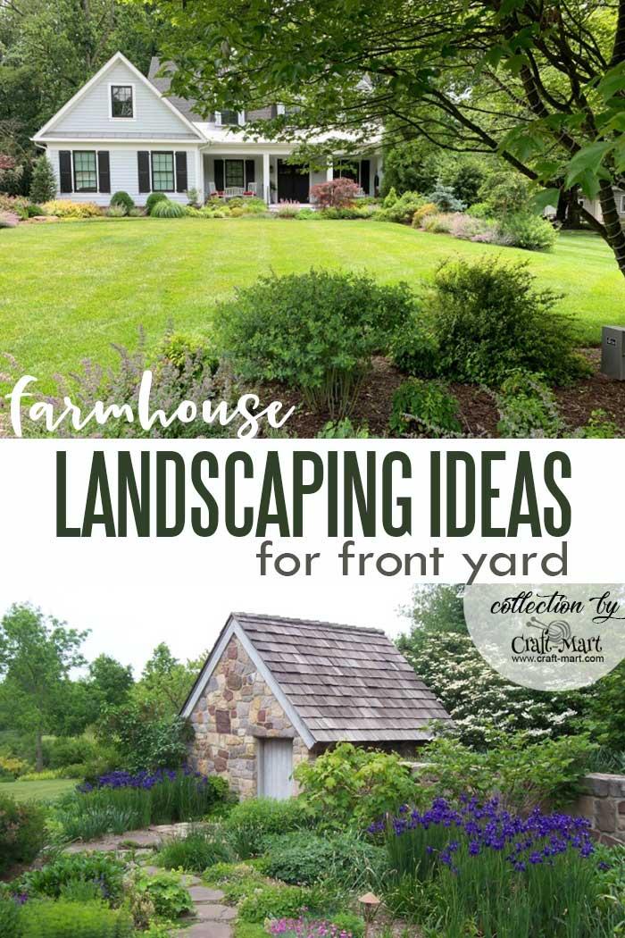 Country farmhouse landscaping idea