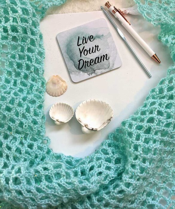 Crochet Mesh Stitch Summer Wrap