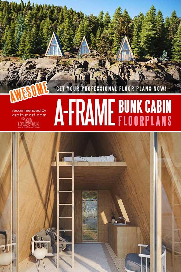 A-Frame Bunk Cabin plans