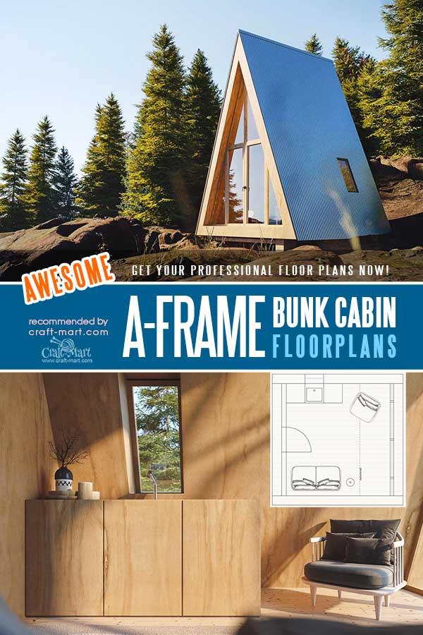 Tiny A-Frame Bunk Cabin