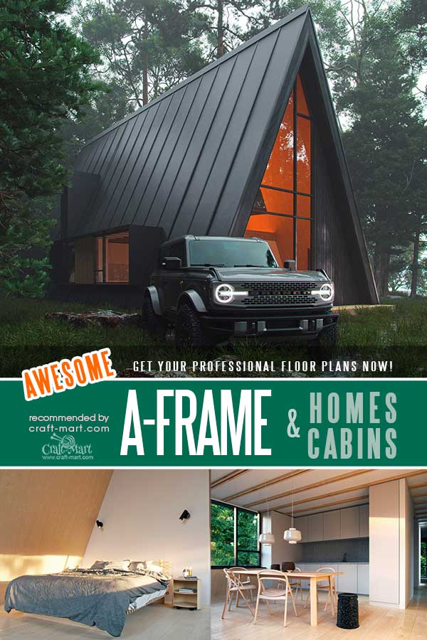 Large A-Frame Family House Plans