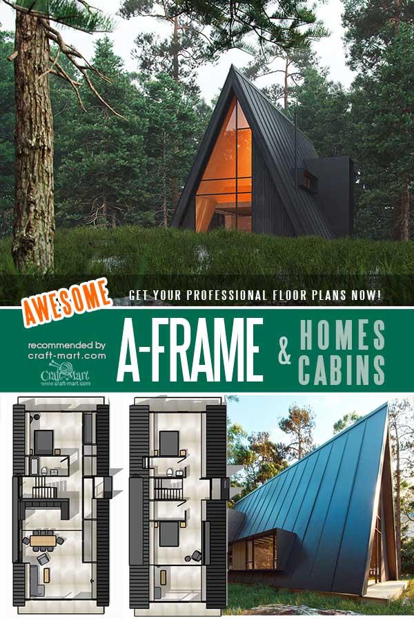 Medium size A-Frame Family House