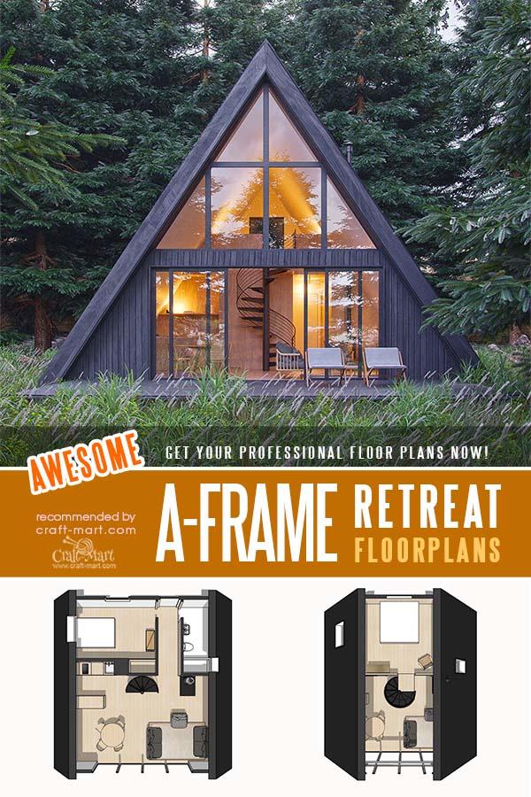 A-Frame Retreat House with a Loft