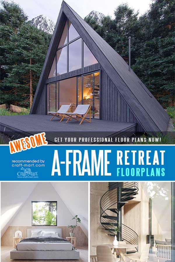 Small A-Frame House with a Loft