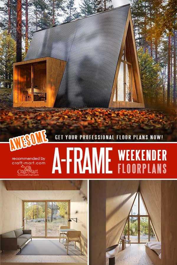 A-Frame Weekender Cabin Plans