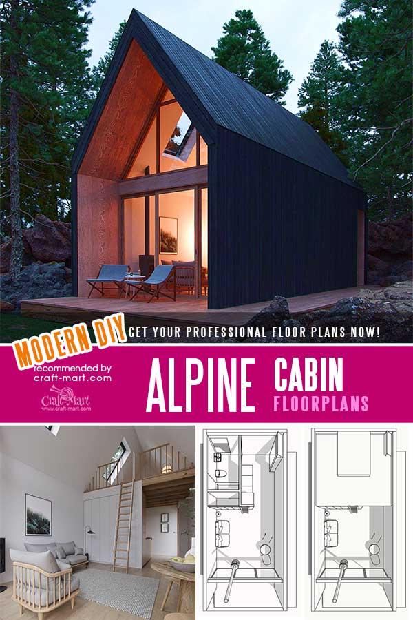 Modern Alpine Cabin Plans