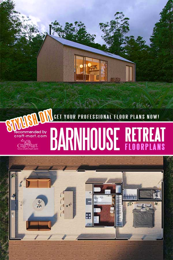 Barnhouse Retreat floorplans