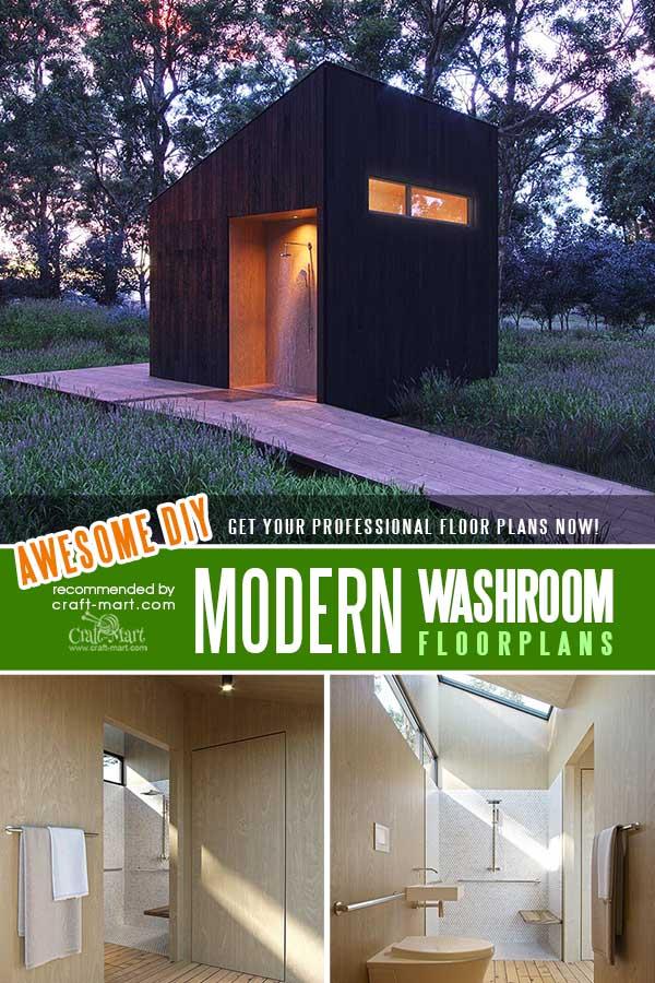 A Modern shower room for your garden