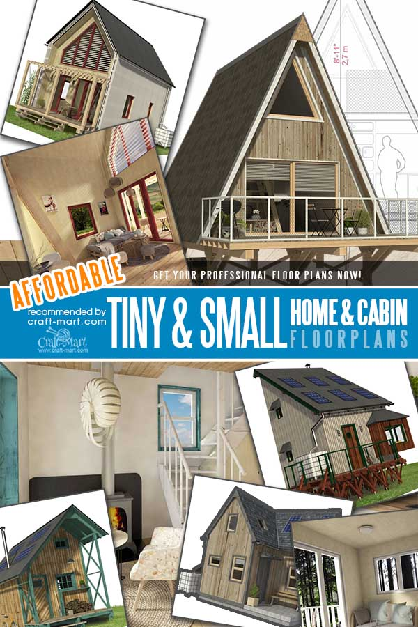unique plans of custom tiny houses and cabins with loft