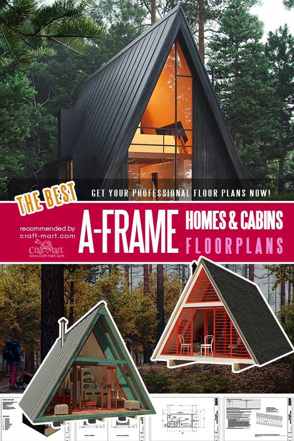 Cool A-frame Tiny House Plans