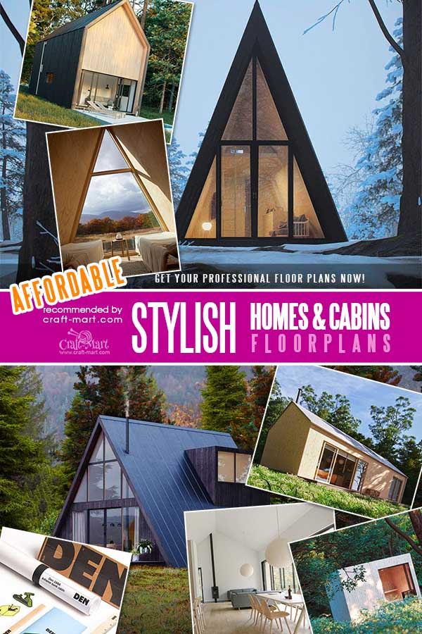 Small A-frame house plans and barndominium designs