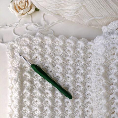 White Waves Crochet Baby Blanket