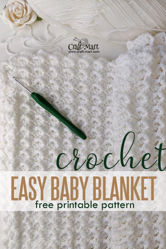 White Waves Crochet Blanket