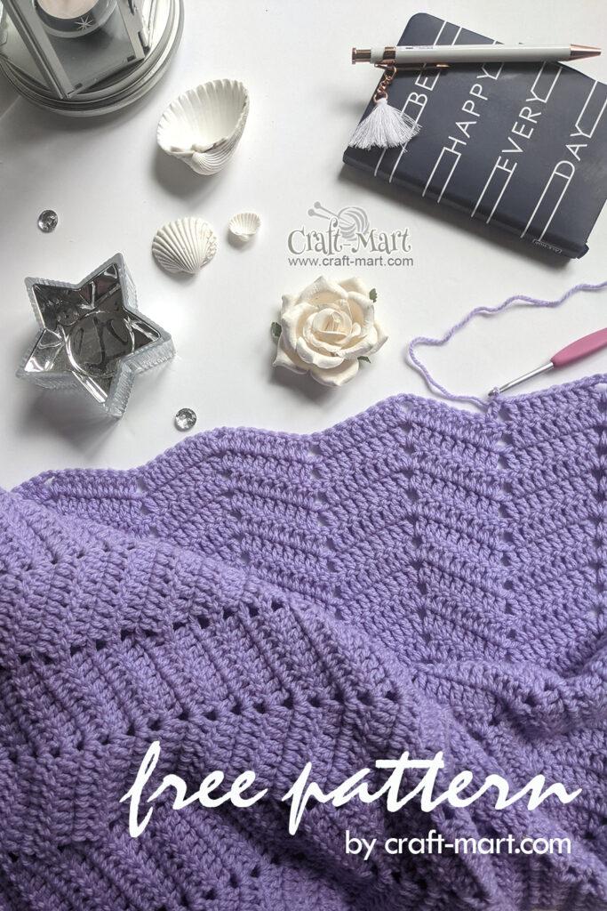 HOPE Ripple Crochet Baby Blanket by craft-mart.com