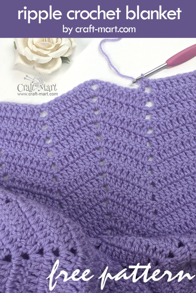 ripple crochet step-by-step tutorial and downloadable FREE PATTERN.
