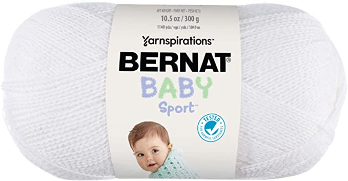 Bernat Baby Sport Yarn (in white)