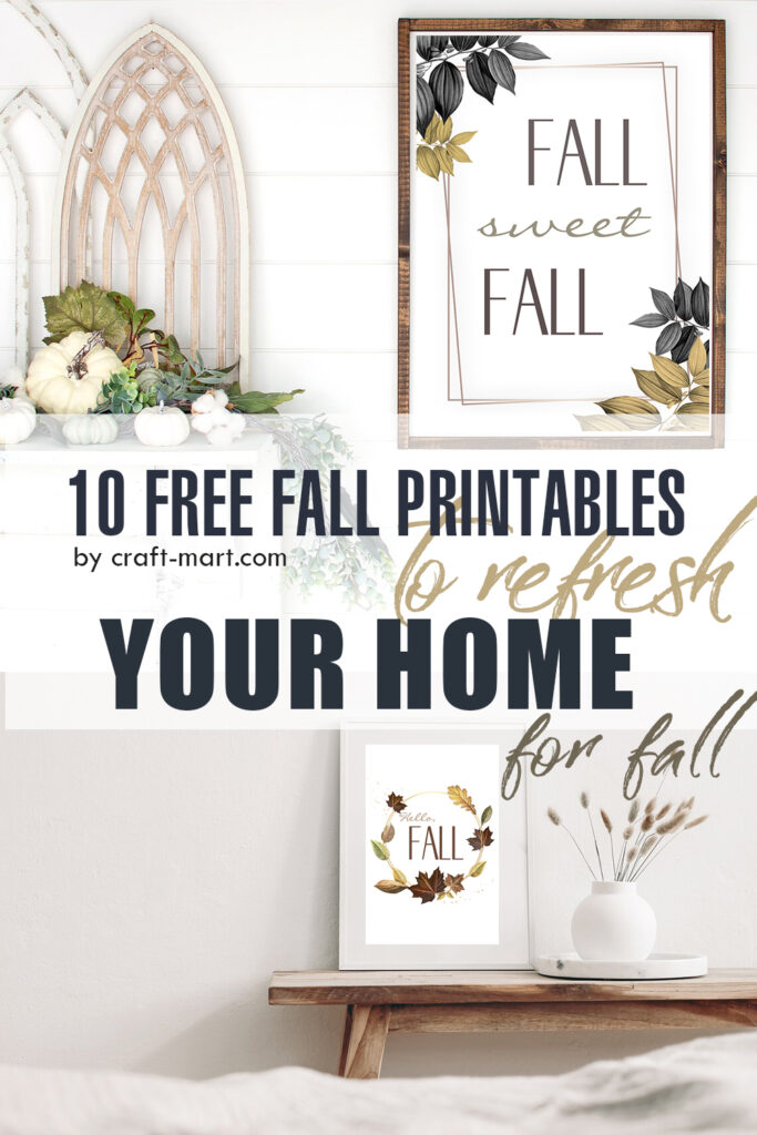 10 free fall printables by craft-mart