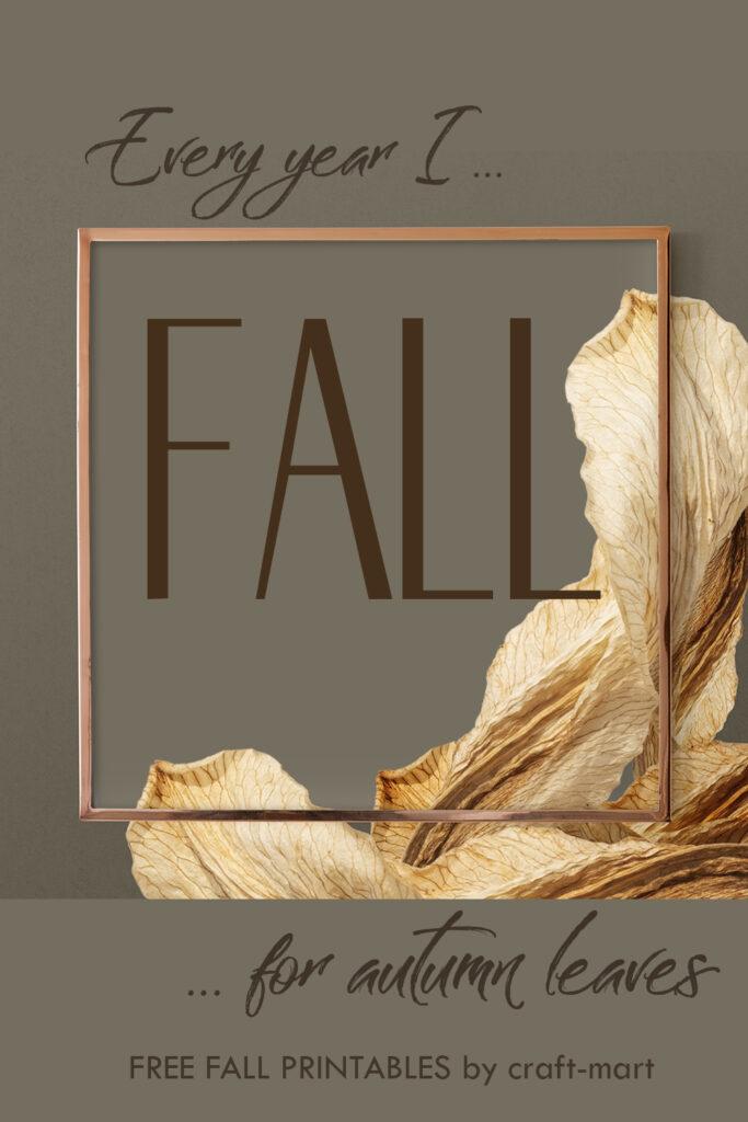 free fall leaves printable