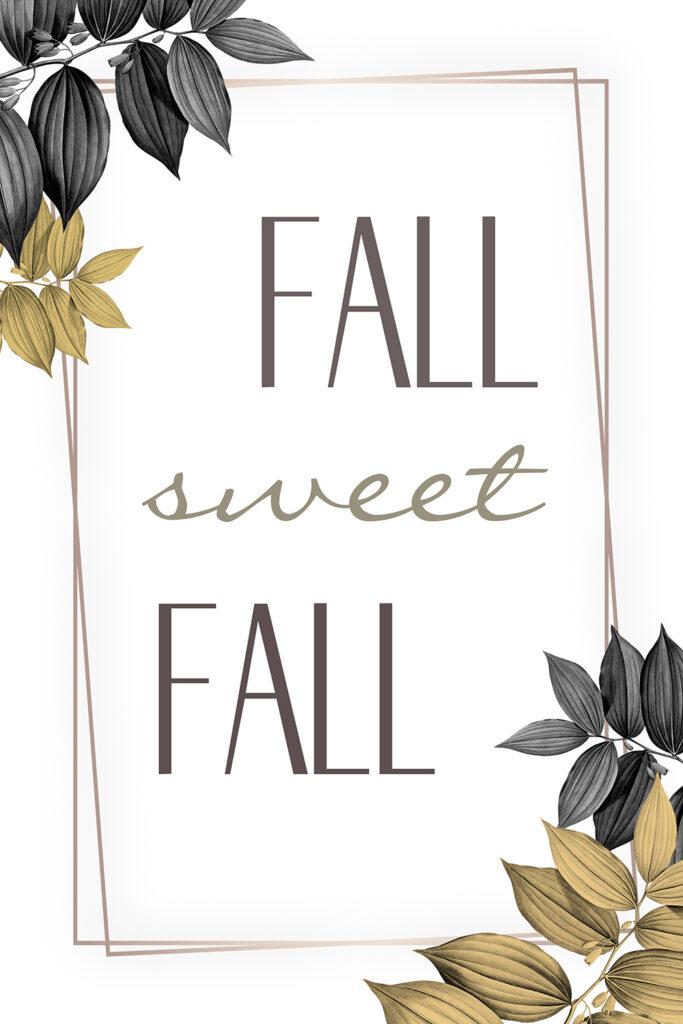 Minimalistic Modern Fall Printable