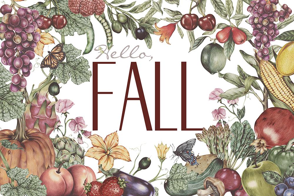 """Hello, Fall"" free printable home decor"