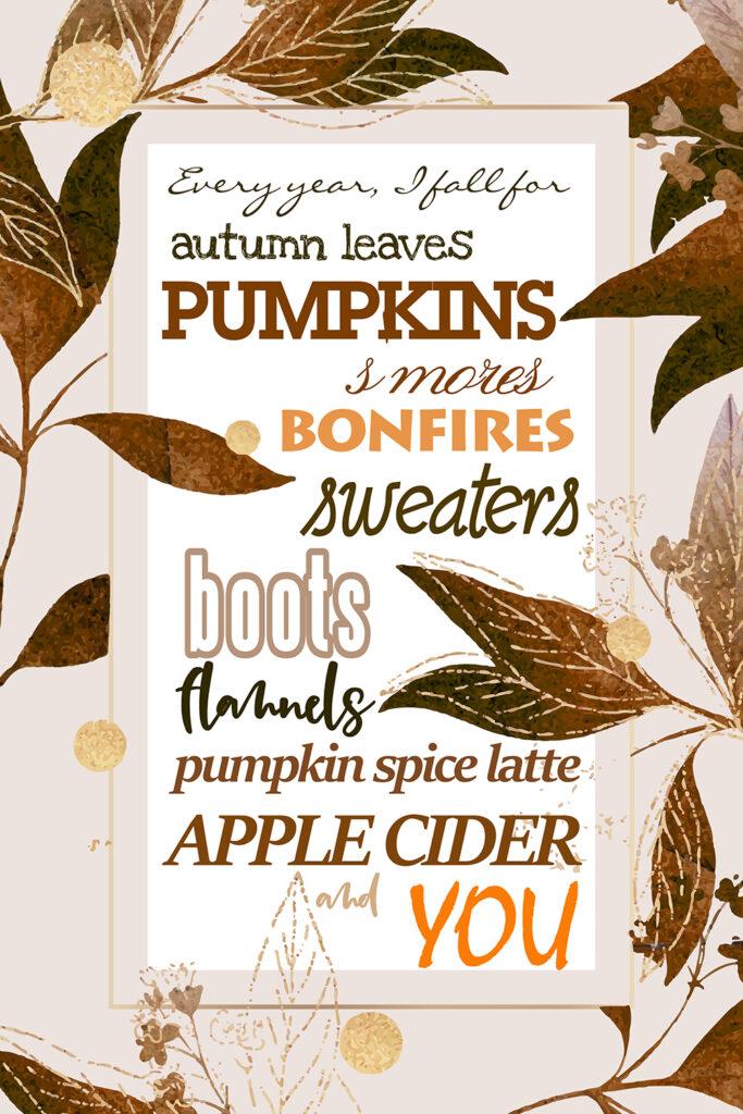 fall leaves printable with sayings