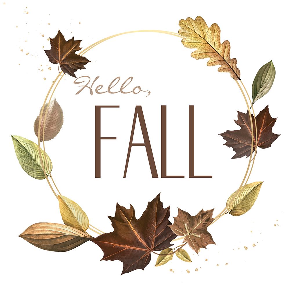 "Fall Printable Wreath ""Hello, Fall"""