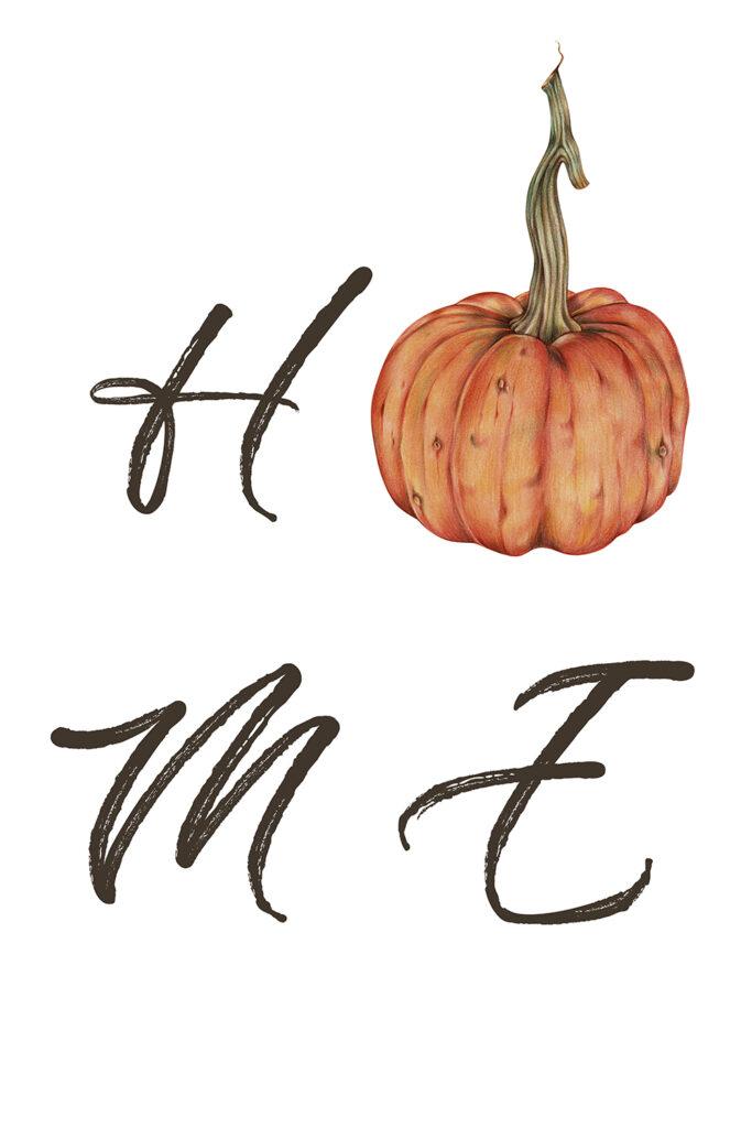 Minimalistic Pumpkin Fall Printable
