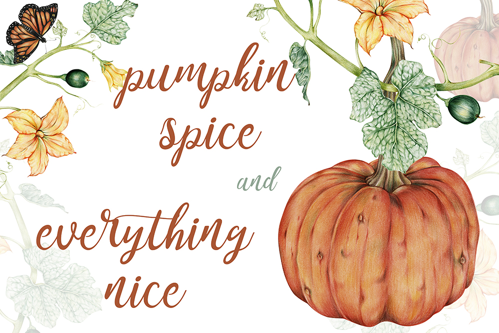 """Free Fall Printable """"Pumpkin Spice and Everything Nice"""""""