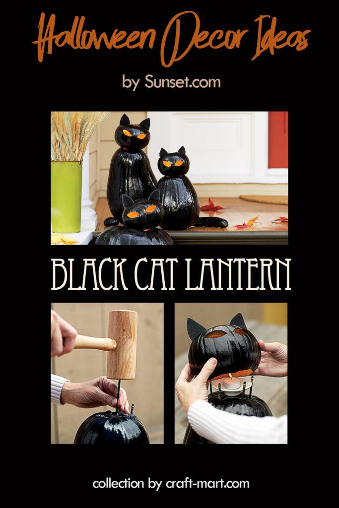 HALLOWEEN BLACK CAT LANTERN