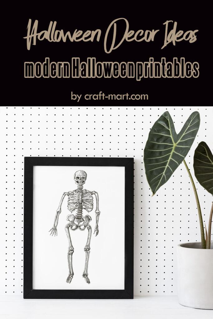 Spooky Skeleton Halloween Wall Art