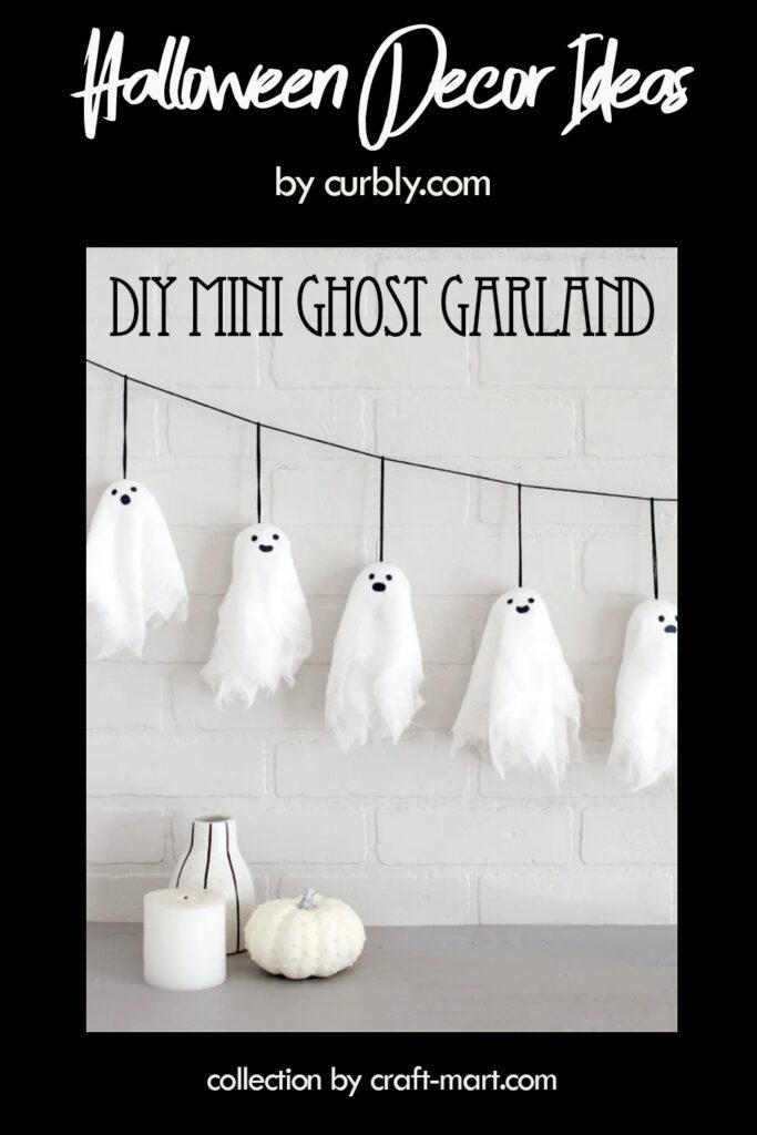 Halloween Mini Ghost Garland