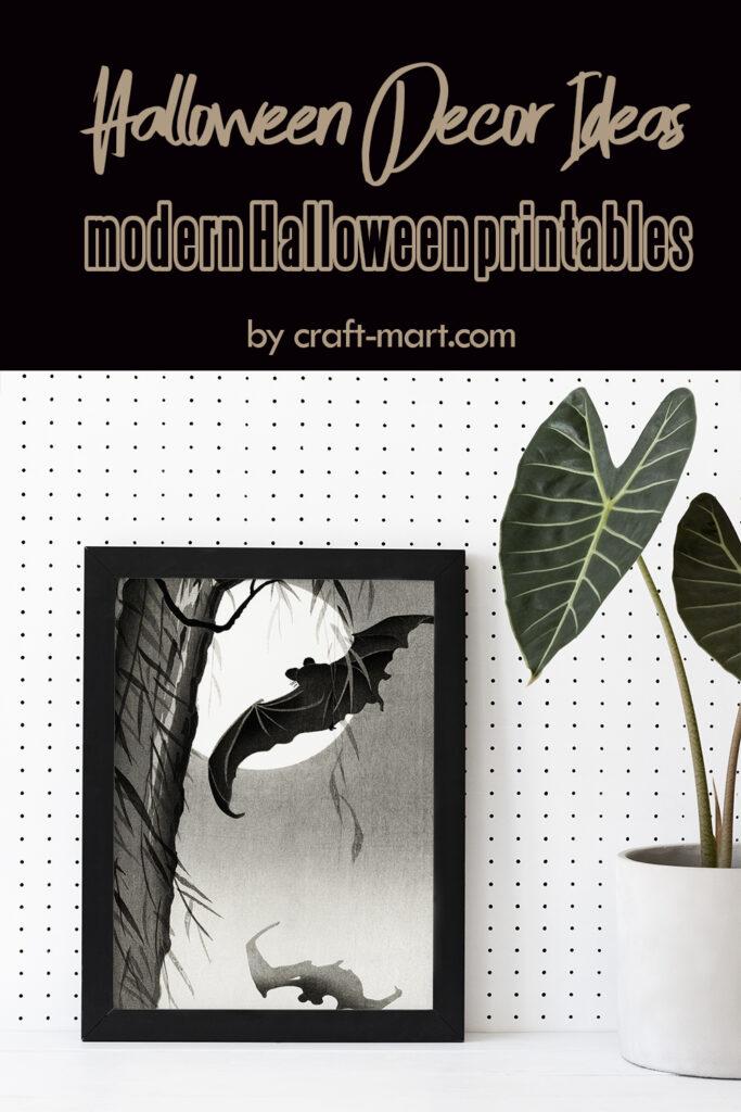 Halloween Decor Idea: Bats Wall Art Printable