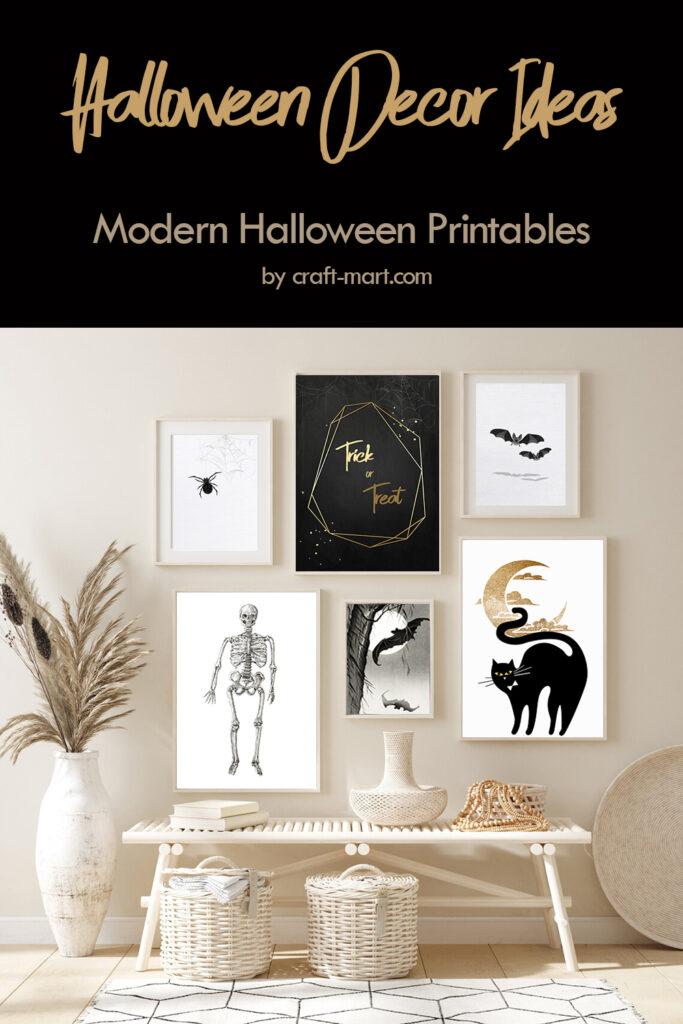 Halloween Decor Ideas: Modern Printables