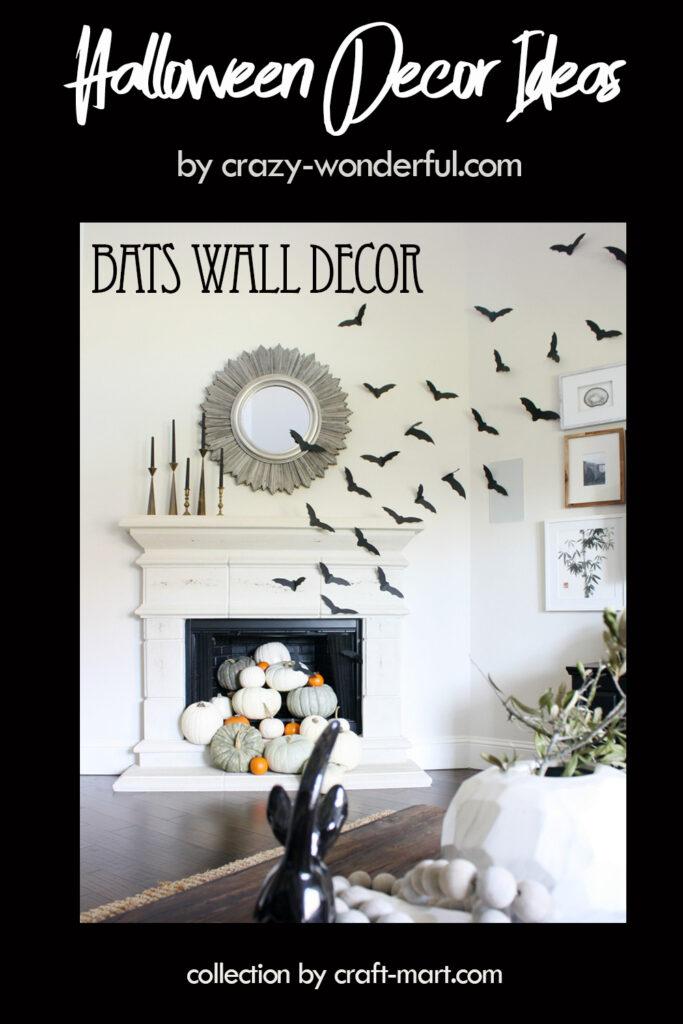 Bats Halloween Wall Decor