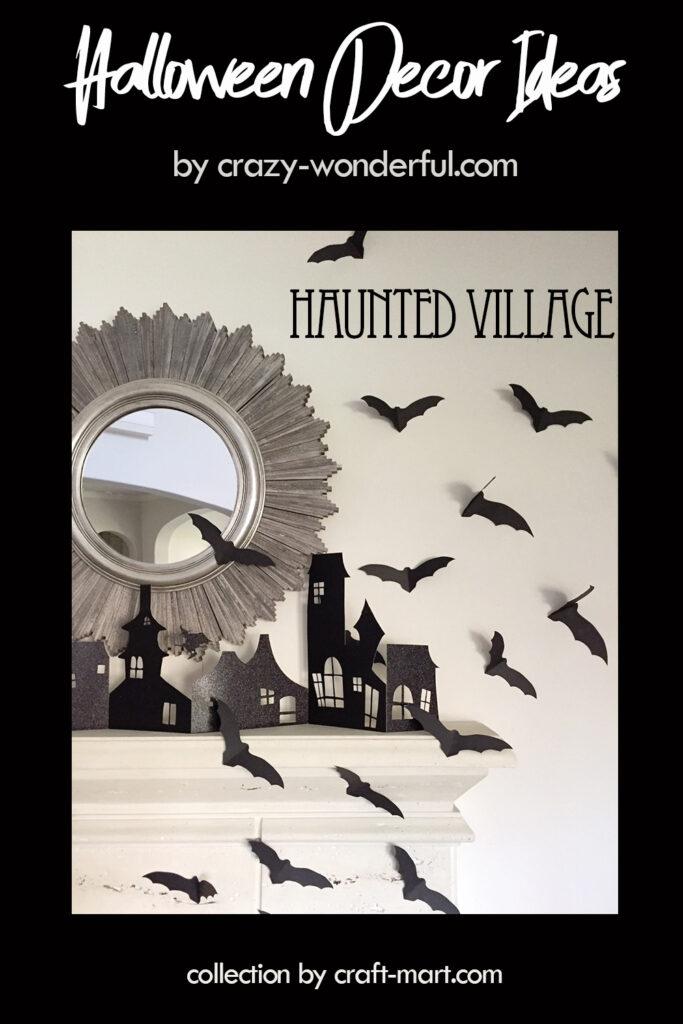 Easy Halloween DIY: Haunted Village
