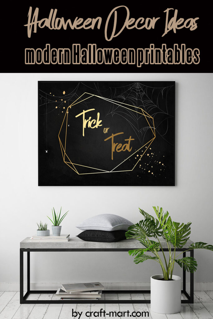 Black and Gold Trick or Treat Printable