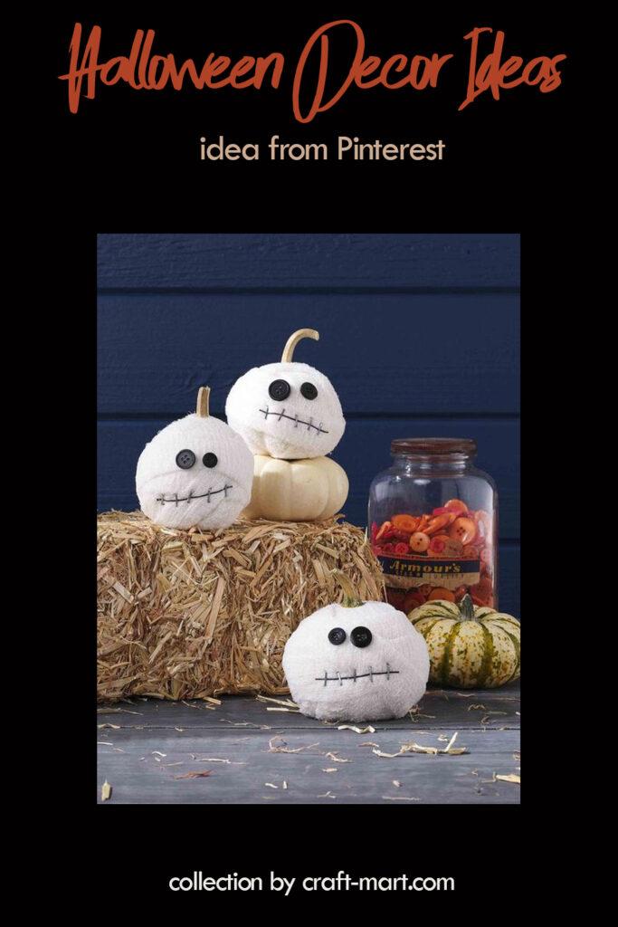 DIY Halloween Yard Decorations: Mummy Pumpkins