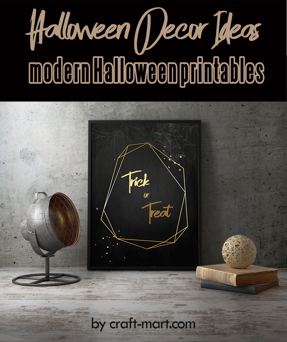 Modern Halloween Printables by craft-mart